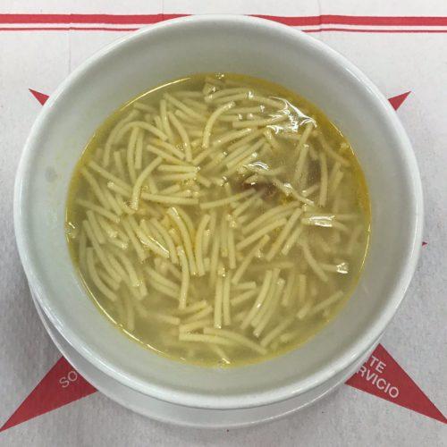 sopa de cocido autoservicio